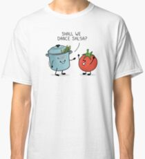 ¿Bailamos salsa? Le dice la olla al tomate Camiseta clásica
