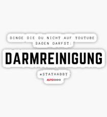 Dinge die du nicht auf Youtube sagen darfst Sticker