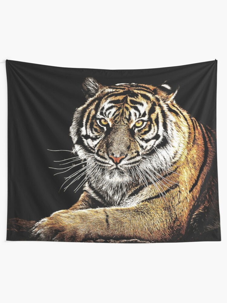 Alternate view of Tiger Tapestry