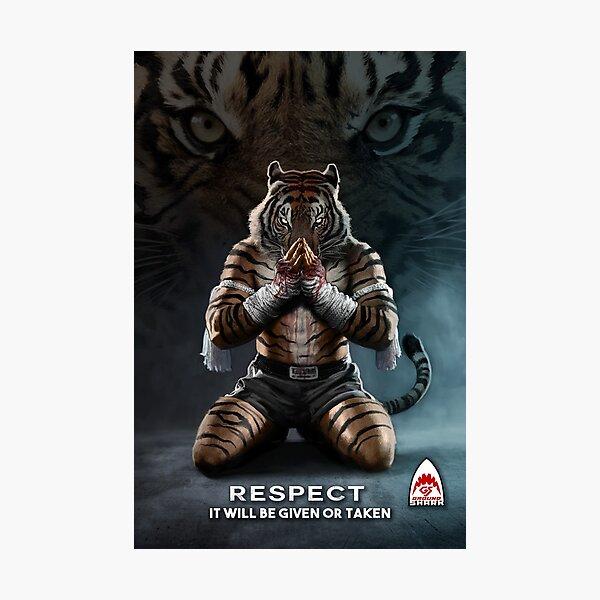 Respect Tiger Photographic Print
