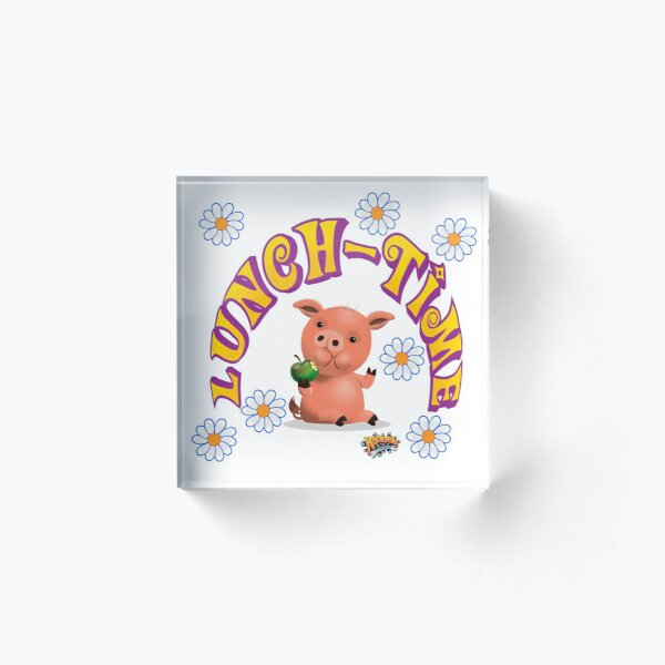 Lunch Time with piggy Acrylic Block