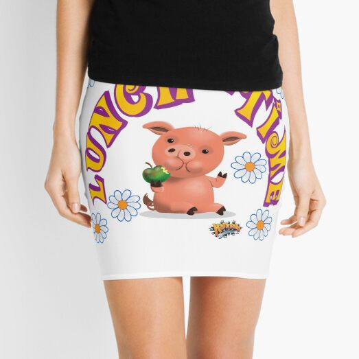Lunch Time with piggy Mini Skirt