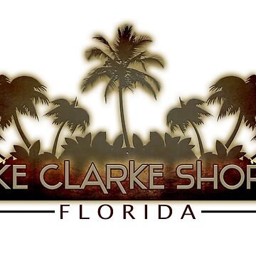 Lake Clarke Shores Florida palm tree words by artisticattitud