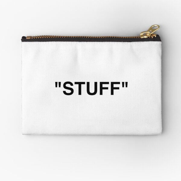'' STUFF '' Zipper Pouch