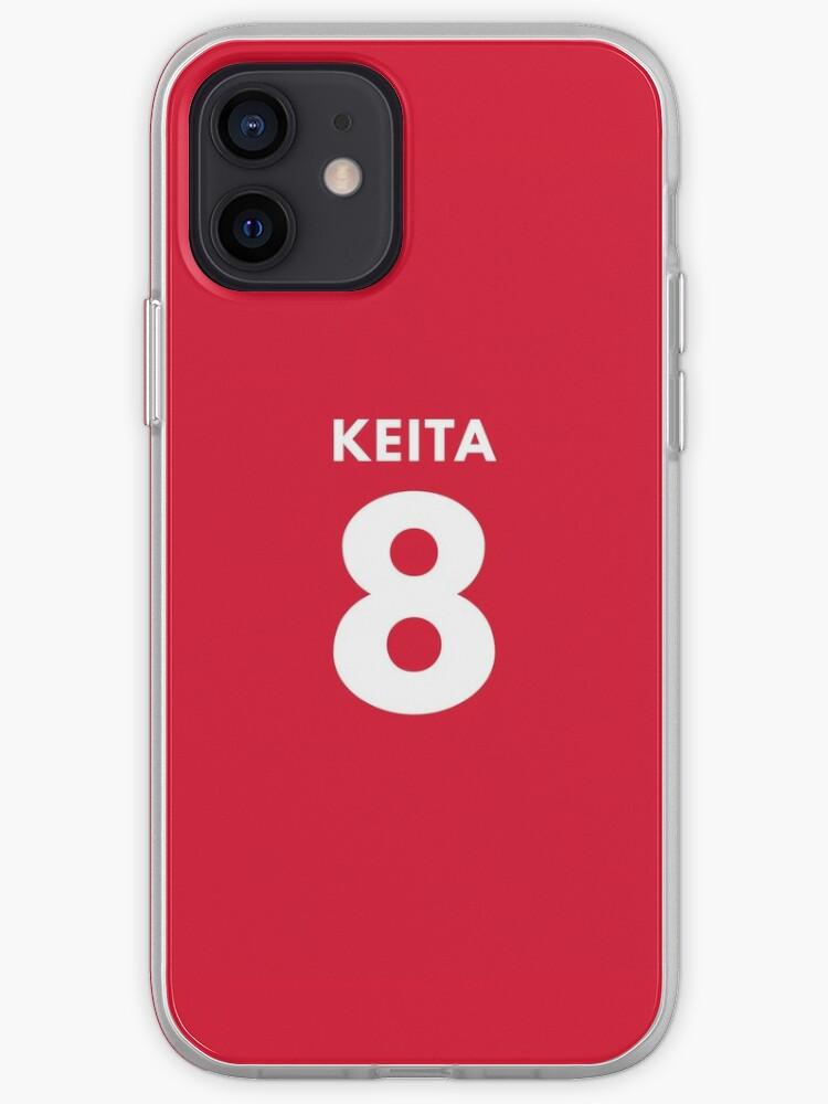 Naby Keita 8 Numéro du maillot du milieu de terrain du Liverpool FC | Coque iPhone