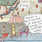 Betel Nut Showers -Life in Myanmar Cartoon by Kristen Palana