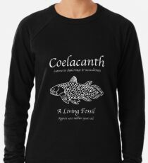 Coelacanth Living Fossil Leichter Pullover