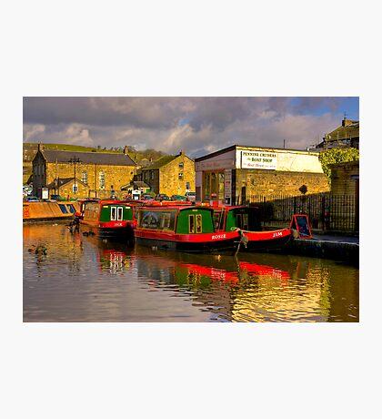 Jack,Rosie & Jim (Canal Basin) - Skipton Photographic Print