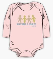 Acceptance & Equality for All Long Sleeve Baby One-Piece