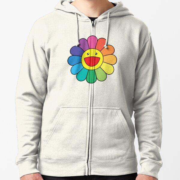 Takashi Murakami Happy Flower Zipped Hoodie
