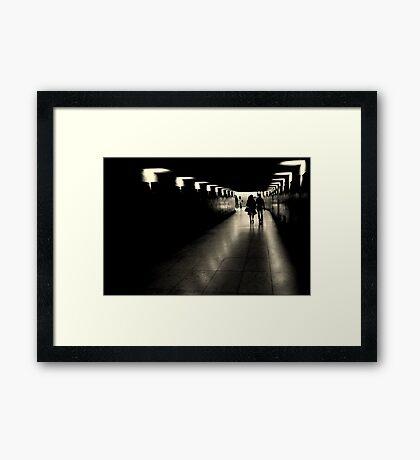 Parisien tunnel vision Framed Print