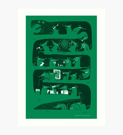 There is a party in my snake  Art Print