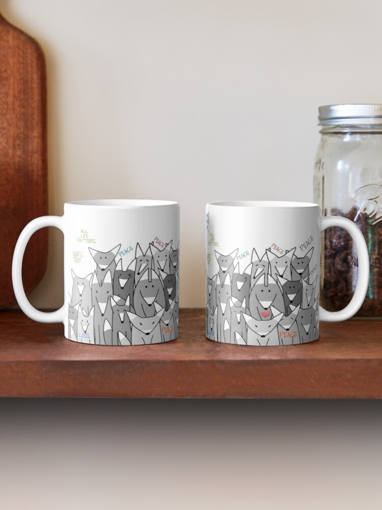 Alternate view of Happy Birthday! Peace! Mug