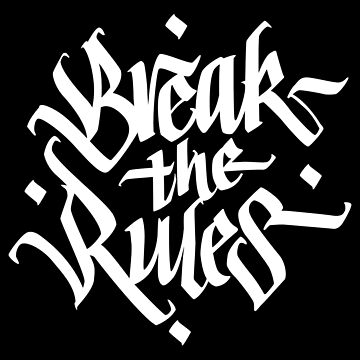 Break the Rules - Stylish Blackletter Type Design von sebastianst