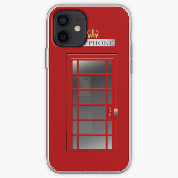 Red Telephone Box iPhone Soft Case