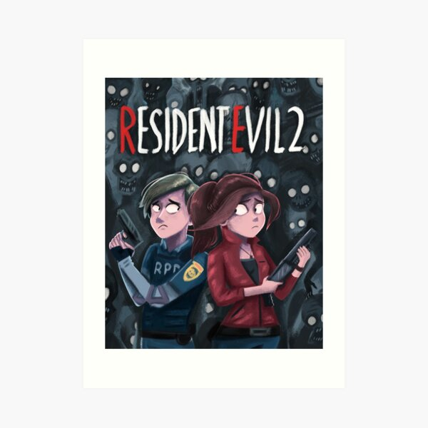 Resident Evil 2  - Claire and Leon Art Print