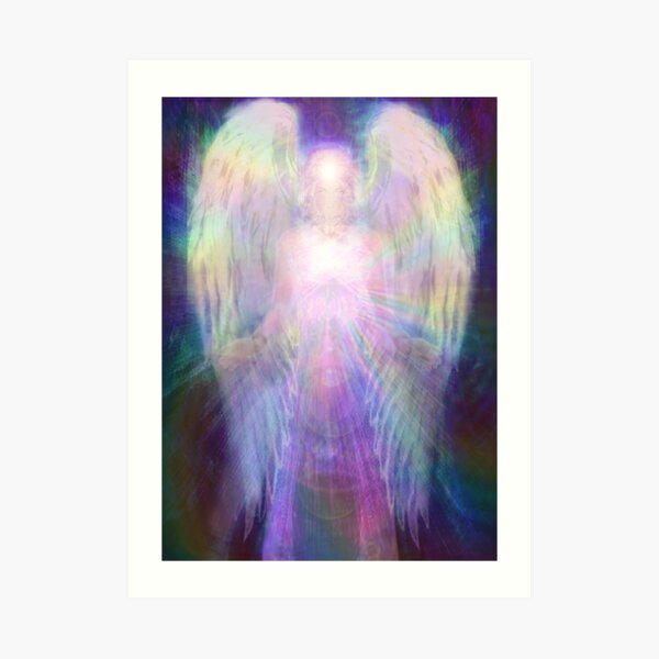 Rainbow angel Art Print