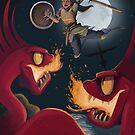 Fighting sea serpents by Dan Widdowson