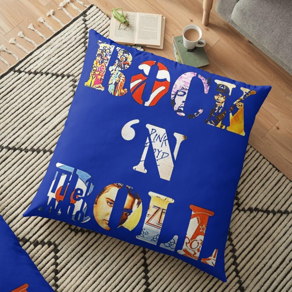 Rock & Roll Floor Pillow