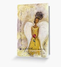 Angel of Peace 2, African American, Black Angels, Latina Greeting Card