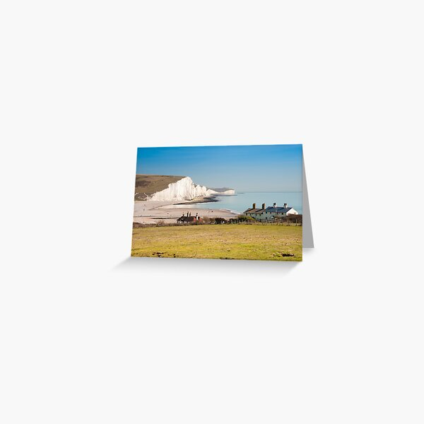 Seven Sisters from Cuckmere Haven: East Sussex. UK. Greeting Card