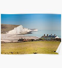 Seven Sisters from Cuckmere Haven: East Sussex. UK. Poster