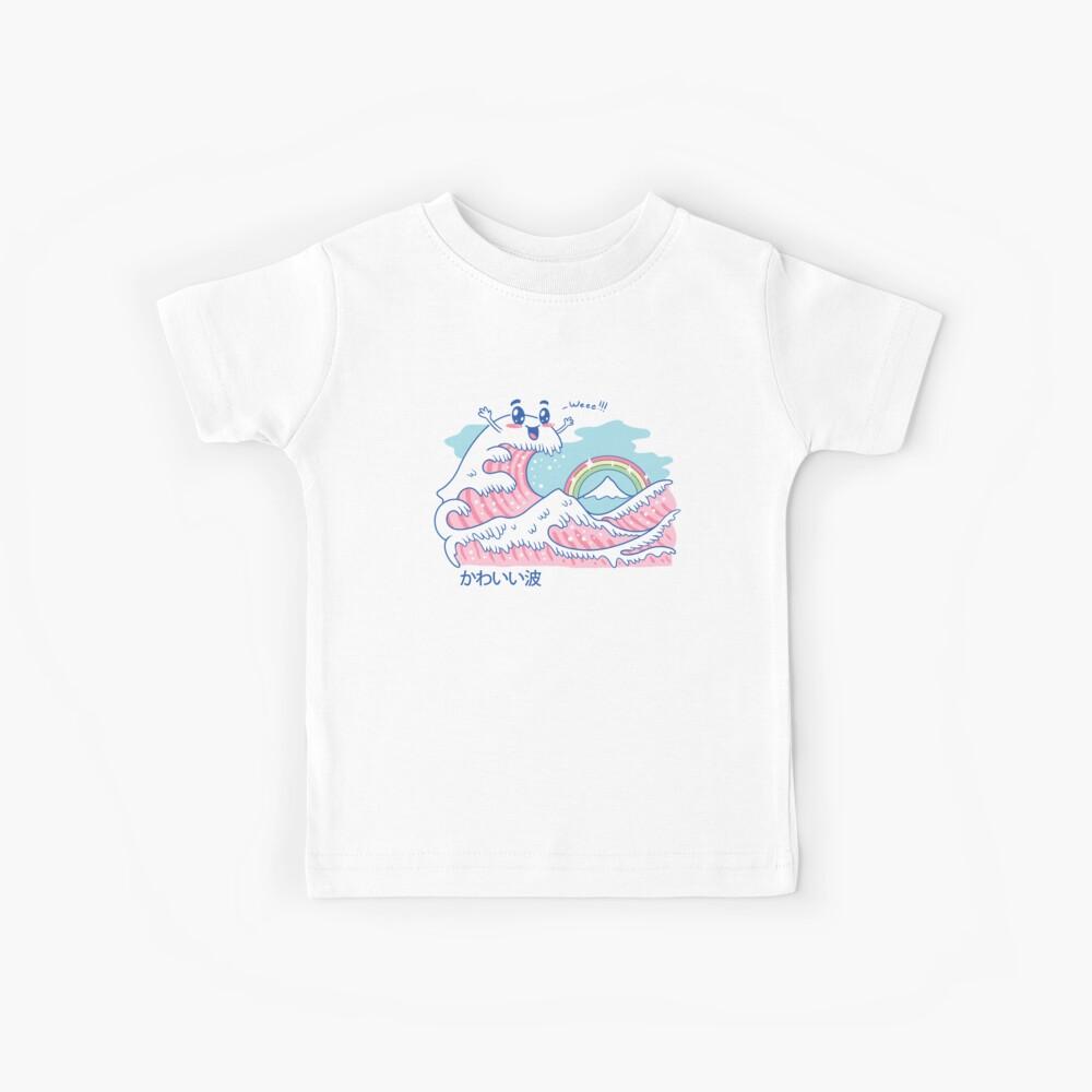 Die große Kawaii-Welle Kinder T-Shirt