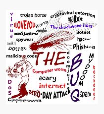 The scary internet bug Photographic Print