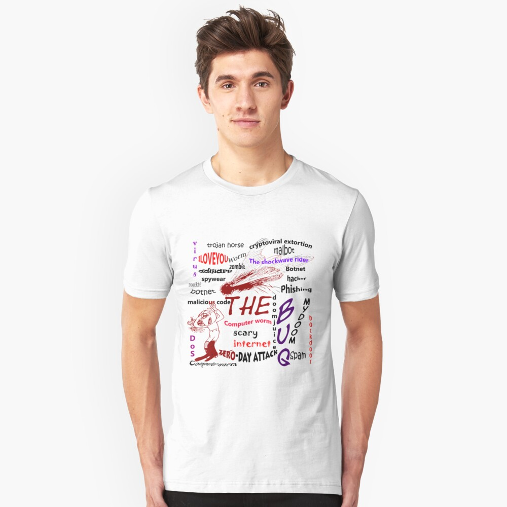 The scary internet bug Unisex T-Shirt Front