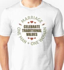 Celebrate Traditional Values Unisex T-Shirt