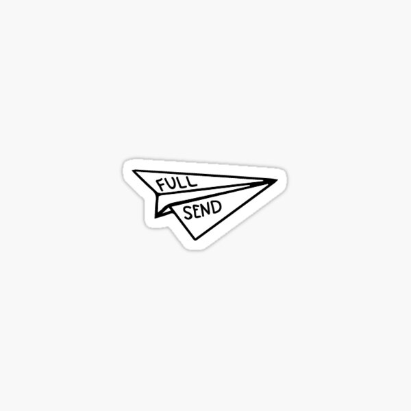 Full Send Airplane Sticker