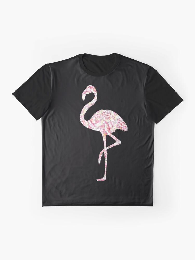 Vista alternativa de Camiseta gráfica Flamingo y peonias