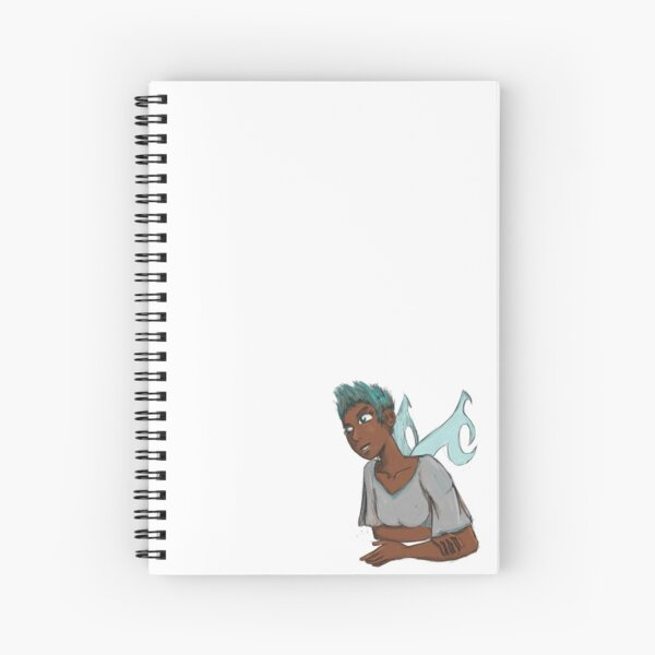 A Dreaming Green-haired Fairy Spiral Notebook