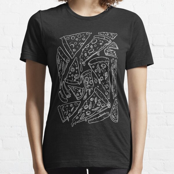 Pizza Pattern (white lines) Essential T-Shirt