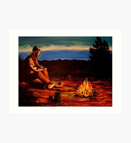 Camp Coffee #1 Art Print