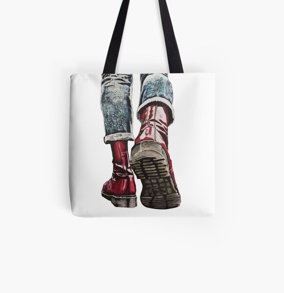 Skinhead Boots All Over Print Tote Bag