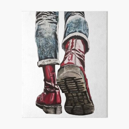 Skinhead Boots Art Board Print