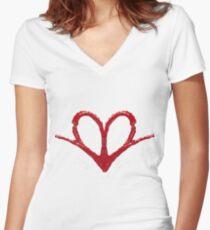 Heart Wide Open Women's Fitted V-Neck T-Shirt