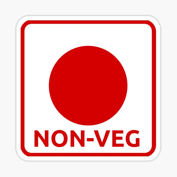 NON veg icon Sticker