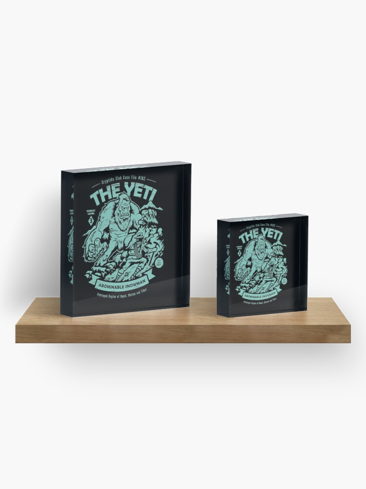 Alternate view of The Yeti - Cryptids club Case file #102 Acrylic Block