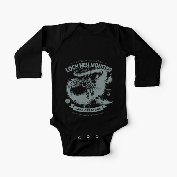 Lochness Monster - Cryptids Club Case file #200 Long Sleeve Baby One-Piece