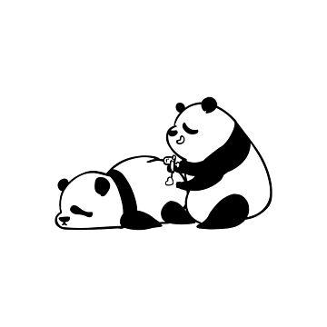 Liebe schmerzt Panda von Huebucket