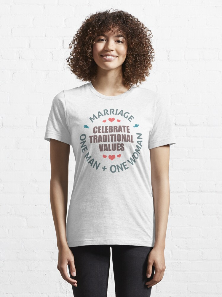 Alternate view of Celebrate Traditional Values Essential T-Shirt