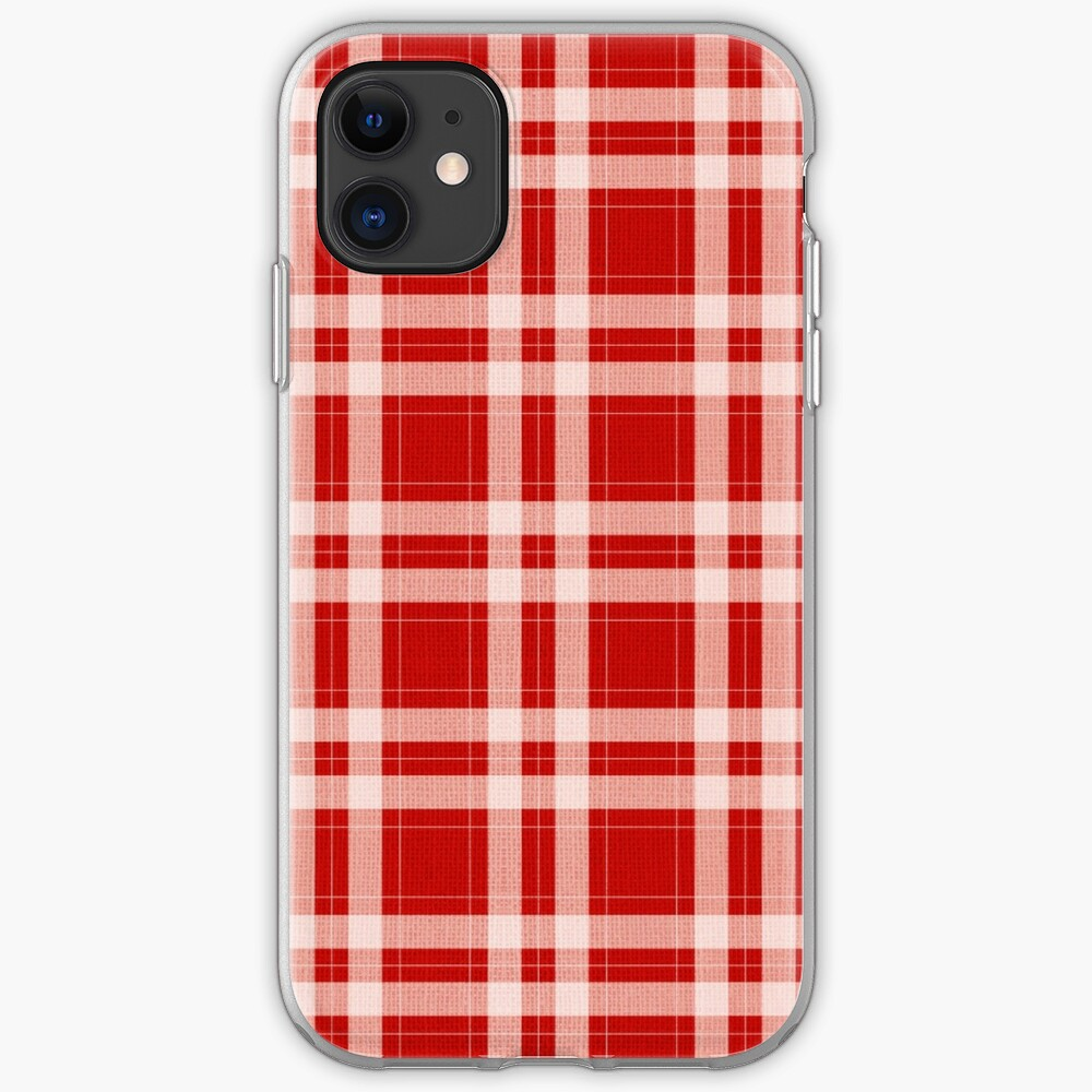 Tartan in rot iPhone-Hülle & Cover