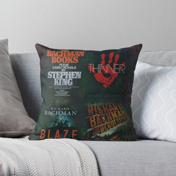 Richard Bachman Books - Stephen King Throw Pillow