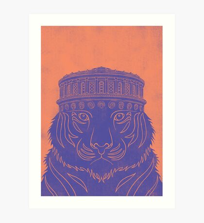 National Library Tiger  Art Print