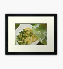 Springtime Pasta and Herbals Framed Print