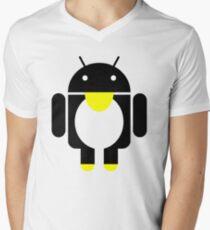 linux Tux penguin android  Mens V-Neck T-Shirt