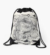 Monkey Dream #4 - Series of 5 Monotypes - Drawstring Bag