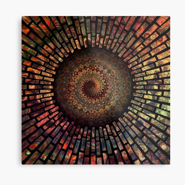 Fibonacci Sacred Mandala Metal Print